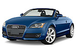Front three quarter view of a 2007 - 2010 Audi TT Roadster with top down