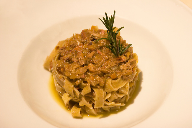 Pappardelle, Santo Bevitore Restaurant, Florence, Tuscany, Italy