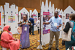 26 June, 2018, Kuala Lumpur, Malaysia : Yosia Habagaya Mwesi of Uganda shows off his poster on the poster wall in The Village on the second day at the Girls Not Brides Global Meeting 2018 at the Kuala Lumpur Convention Centre. Picture by Graham Crouch/Girls Not Brides
