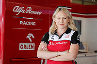 29th April 2021; Algarve International Circuit, in Portimao, Portugal; F1 Grand Prix of Portugal, driver and team arrival and inspection day;  BUSCOMBE Ruth, Strategy Engineer of Alfa Romeo Racing ORLEN