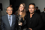 From left: Fred Welling, Michelle Simmons and Shawn Welling at the Light as Air Fashion show with leather fashions by Jose Sanchez and performances by Vault with Choreography by Amy Eli at Vault Houston Saturday Jan.10, 2015.(Dave Rossman For the Chronicle)