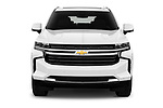 Car photography straight front view of a 2021 Chevrolet Tahoe LT 5 Door SUV Front View