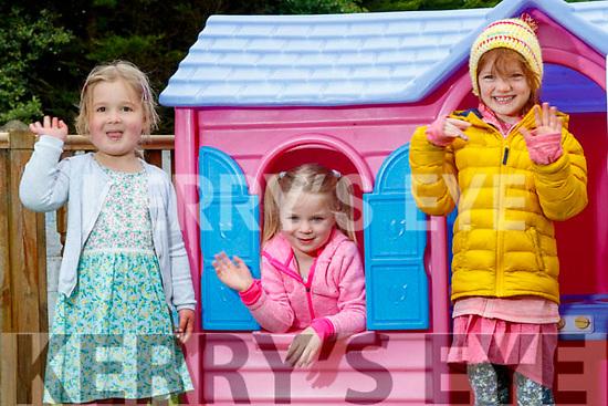Mounthawk Montessori chreche reopened on Monday from left: Rosin Coffey, Catherine Keenan and Caroline Fortune.
