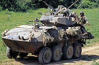 - US Marines LAV 25 armored cars during NATO exercises at cape Teulada (Sardinia)<br /> <br /> - US Marines, autoblindo LAV 25 durante esercitazioni NATO a capo Teulada (Sardegna)
