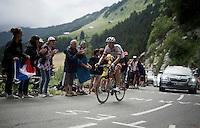 Georg Preidler (AUT/Giant-Alpecin) up the Montée de Bisanne (HC/1723m/12.4km/8.2%)<br /> <br /> Stage 19:  Albertville › Saint-Gervais /Mont Blanc (146km)<br /> 103rd Tour de France 2016