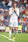 Real Madrid's Gareth Bale during La Liga match between Real Madrid and Valencia CF at Santiago Bernabeu Stadium in Madrid, Spain August 27, 2017. (ALTERPHOTOS/Borja B.Hojas)