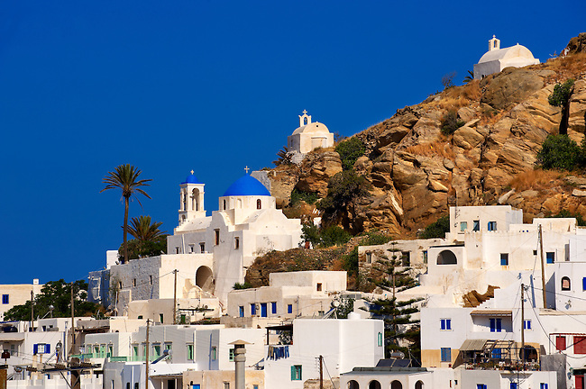The Hill city of Chora (Hora),  Ios, Greece, Cyclades Island