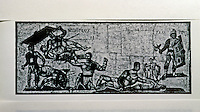 Italy: Rome--Gladiators, Mosaic. Torre Nuova, Rome, 4 C. A.D. Galleria Borghese, Rome.