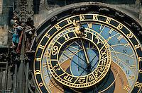 Tschechien, Prag, astronomische Uhr am Altstaedter Rathaus, Unesco-Weltkulturerbe