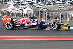 Daniel Ricciardo (16) driver of the Scuderia Toro Rosso Ferrari in action during the Formula 1 United States Grand Prix practice session at the Circuit of the Americas race track in Austin,Texas. The Formula 1 United States Grand Prix will take place on 18 November 2012....