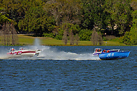 """JS-9 """"Kentucky Blue"""", JS-712, JS-99 and JS-7   (Jersey Speed Skiff(s)"""