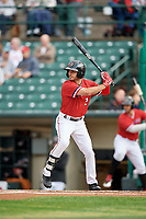 Rochester Red Wings center fielder Zack Granite (2) at bat during the first game of a doubleheader against the Scranton/Wilkes-Barre RailRiders on August 23, 2017 at Frontier Field in Rochester, New York.  Rochester defeated Scranton 5-4 in a game that was originally started on August 22nd but postponed due to inclement weather.  (Mike Janes/Four Seam Images)