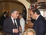 """MARCELLO DELL'UTRI CON BRUNO VESPA<br /> 75° COMPLEANNO DI LINO JANNUZZI - """"DA FORTUNATO AL PANTHEON"""" ROMA 2003"""