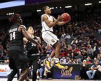 SACRAMENTO, CA - November 21, 2016: Cal Bears Men's Basketball team vs. the San Diego State University Aztecs at Golden 1 Center. Final score, Cal Bears 65, San Diego State University Aztecs 77.