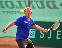 Netherlands, Amstelveen, August 21, 2015, Tennis,  National Veteran Championships, NVK, TV de Kegel,  Men's 50+, Marco Pijl<br /> Photo: Tennisimages/Henk Koster