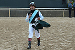 April 12, 2014: Jockey Joe Bravo after winning the Arkansas Derby at Oaklawn Park in Hot Springs, AR. Justin Manning/ESW/CSM