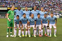 Manchester City Starting XI.Manchester City defeated Chelsea 4-3 in an international friendly at Busch Stadium, St Louis, Missouri.