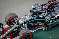 26th September 2020, Sochi, Russia; FIA Formula One Grand Prix of Russia, qualification;  44 Lewis Hamilton GBR, Mercedes-AMG Petronas Formula One Team  as he takes pole