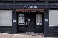 "No. 9 Park, a restaurant in the Barbara Lynch Collective, has been temporarily closed for the month of January 2021 due to restrictions on restaurants put in place during the ongoing Coronavirus (COVID-19) global pandemic in Boston, Massachusetts, on Sat., Jan. 9, 2021. A sign on the front door reads, in part: ""With the health and safety of our employees, guests, and the greater Boston community in mind, we have decided to temporarily close all Barbara Lynch Collective restaurants, including No. 9 Park, for on-premise dining until February 2021."""