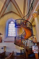 Spiral Staircase in Loretto Chapel. Santa Fe, New Mexico
