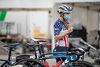 US champion Ruth Winder (USA/Trek-Segafredo) pre-race<br /> <br /> 7th La Course by Tour de France 2020 <br /> 1 day race from Nice to Nice (96km)<br /> <br /> ©kramon