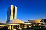 Congresso Nacional em Brasília. 2001. Foto de Ricardo Azoury.
