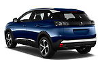 Car pictures of rear three quarter view of 2021 Peugeot 3008 Allure 5 Door SUV Angular Rear