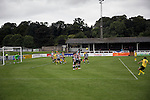 Elgin City 3 Edinburgh City 0, 13/08/2016. Borough Briggs, Scottish League Two. Visiting striker Craig Beattie first in a second-half free-kick at Borough Briggs, home to Elgin City, on the day they played SPFL2 newcomers Edinburgh City (in yellow). Elgin City were a former Highland League club who were elected to the Scottish League in 2000, whereas Edinburgh City became the first club to gain promotion to the League by winning the Lowland League title and subsequent play-off matches in 2015-16. This match, Edinburgh City's first away Scottish League match since 1949, ended in a 3-0 defeat, watched by a crowd of 610. Photo by Colin McPherson.