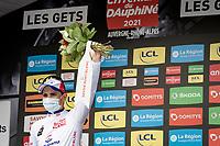 David Gaudu (FRA/Groupama - FDJ) takes the white jersey as best young rider home<br /> <br /> 73rd Critérium du Dauphiné 2021 (2.UWT)<br /> Stage 8 (Final) from La Léchère-Les-Bains to Les Gets (147km)<br /> <br /> ©kramon