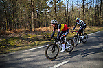 Dries De Bondt (BEL) Alpecin Fenix and Sander Armee (BEL) Team Qhubeka Assos during Stage 2 of Paris-Nice 2021, running 188km from Oinville-sur-Montcient to Amilly, France. 8th March 2021.<br /> Picture: ASO/Fabien Boukla | Cyclefile<br /> <br /> All photos usage must carry mandatory copyright credit (© Cyclefile | ASO/Fabien Boukla)