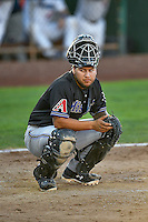 Jose Herrera (12) of the Missoula Osprey during the game against the Ogden Raptors in Pioneer League action at Lindquist Field on July 13, 2016 in Ogden, Utah. Ogden defeated Missoula 8-2. (Stephen Smith/Four Seam Images)