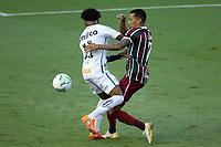 Santos (SP), 21.02.2020 - Santos-Fluminense - O jogador Lucca e Marinho. Partida entre Santos e Fluminense valida pela 37. rodada do Campeonato Brasileiro neste domingo (21) no estadio da Vila Belmiro em Santos.