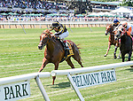 June 7, 2014: Undrafted, ridden by John Velazquez, wins the Jaipur Invitational on Belmont Stakes Day at Belmont Park in Elmont, New York. Bob Mayberger/ESW/CSM