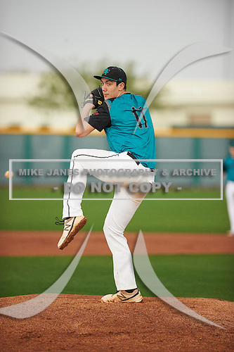 Arlo Marynczak (17) of Bethlehem Central High School in Delmar, New York during the Under Armour All-American Pre-Season Tournament presented by Baseball Factory on January 14, 2017 at Sloan Park in Mesa, Arizona.  (Zac Lucy/Mike Janes Photography)