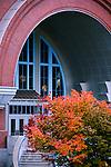 Main entrance of Washington State History Museum, Tacoma, Washington.