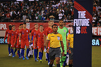 EAST RUTHERFORD, NJ - SEPTEMBER 6: USMNT entering the field during a game between Mexico and USMNT at MetLife Stadium on September 6, 2019 in East Rutherford, New Jersey.