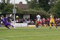Mauro Vilhete of Dagenham scores the first goal for his team and celebrates during Hornchurch vs Dagenham & Redbridge, Friendly Match Football at Hornchurch Stadium on 24th July 2021