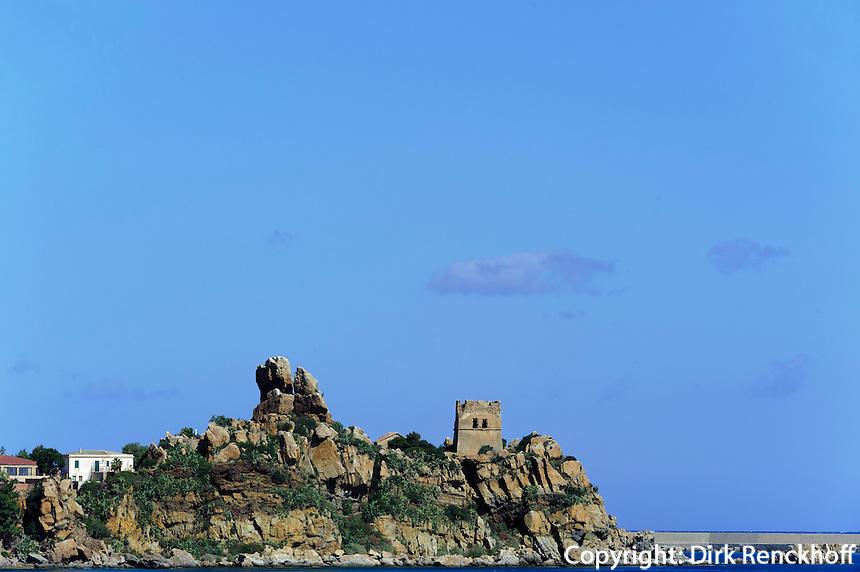 Halbinsel bei Cefalu, Sizilien, Italien