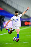 26th March 2021, Stade de France, Saint-Denis, France; Guinness 6-Nations international rugby, France versus Scotland;  Romain Ntamack (Fra) kics a converion for points