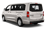 Car pictures of rear three quarter view of a 2018 Peugeot Traveller Business 4 Door Mini Van angular rear