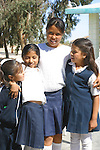 SAN FELIPE SCHOOL GIRLS POSES for a PHOTO