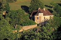 Europe/France/Aquitaine/24/Dordogne/Vallée de la Dordogne/Périgord/Périgord Noir/Castelnaud-La-Chapelle: Détail d'une ferme