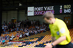 Port Vale 3 Doncaster Rovers 0, 22/08/2015. League One, Vale Park. the scoreboard shows 2-0 to Port Vale in the 82nd minute. Photo by Paul Thompson.