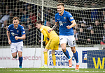 Ayr United v St Johnstone…..08.02.20   Somerset Park   Scottish Cup 5th Round<br />Callum Hendry celebrates his first goal<br />Picture by Graeme Hart.<br />Copyright Perthshire Picture Agency<br />Tel: 01738 623350  Mobile: 07990 594431