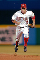 3 September 2005: Jamey Carroll, utility infielder for the Washington Nationals, during a game against the Philadelphia Phillies. The Nationals defeated the Phillies 5-4 at RFK Stadium in Washington, DC. <br /><br />Mandatory Photo Credit: Ed Wolfstein.