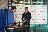 Januari 24, 2015, Rotterdam, ABNAMRO, Supermatch, Strining corner<br /> Photo: Tennisimages/Henk Koster