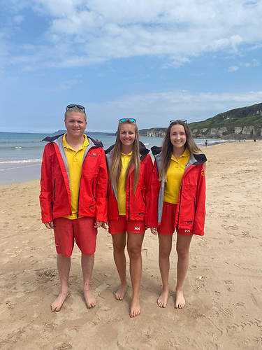 RNLI lifeguard siblings Owen, Beth and Alex Montgomery