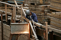 chantier de construction   12 juillet 2004