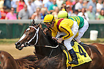 June 12,  2010: Calvin Borel and Rachel Alexandra just before the wire the first time around in the G1 Fleur De Lis at Churchill Downs in Louisville, Kentucky.