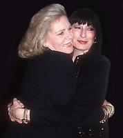 #LaurenBacallAnjelicaHuston 1992<br /> Photo By John Barrett/PHOTOlink.net